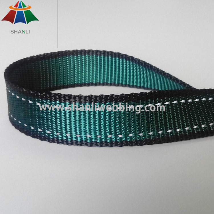 high strength poly reflective webbing for dog collar and leash