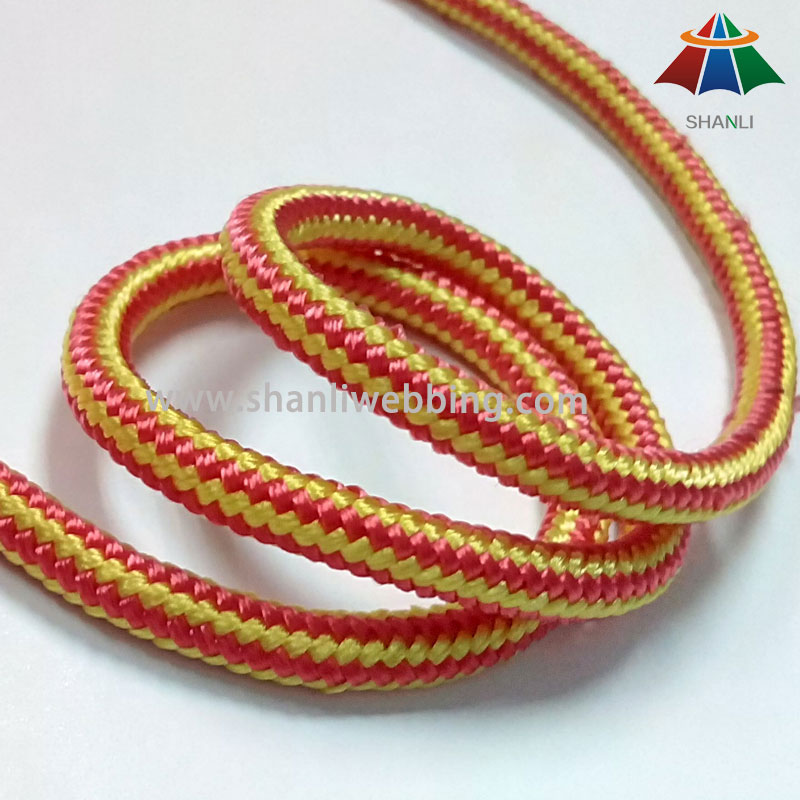 Striped Nylon Rope, 16 Strands Braided Nylon Rope