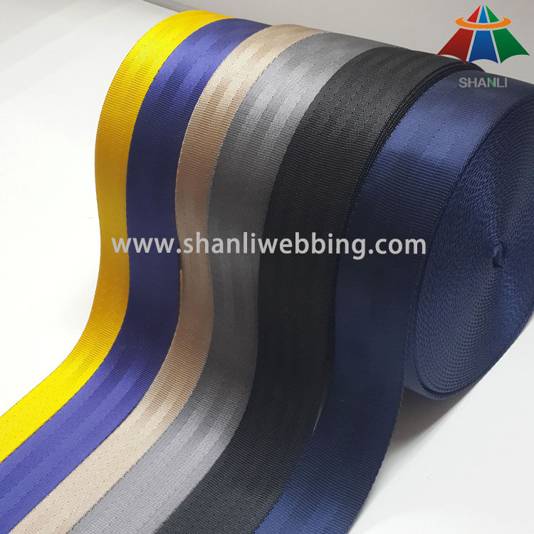 Nylon/Polyester Safety Belt Webbing Straps, Car Seat Belt Webbing