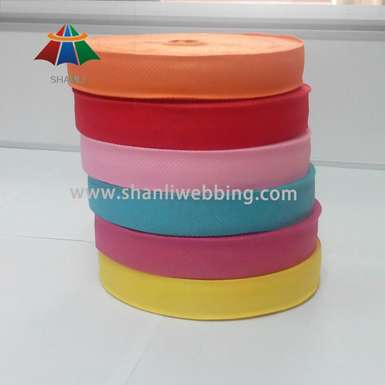 Colorful Herringbone Polyester Webbing Binding Tape