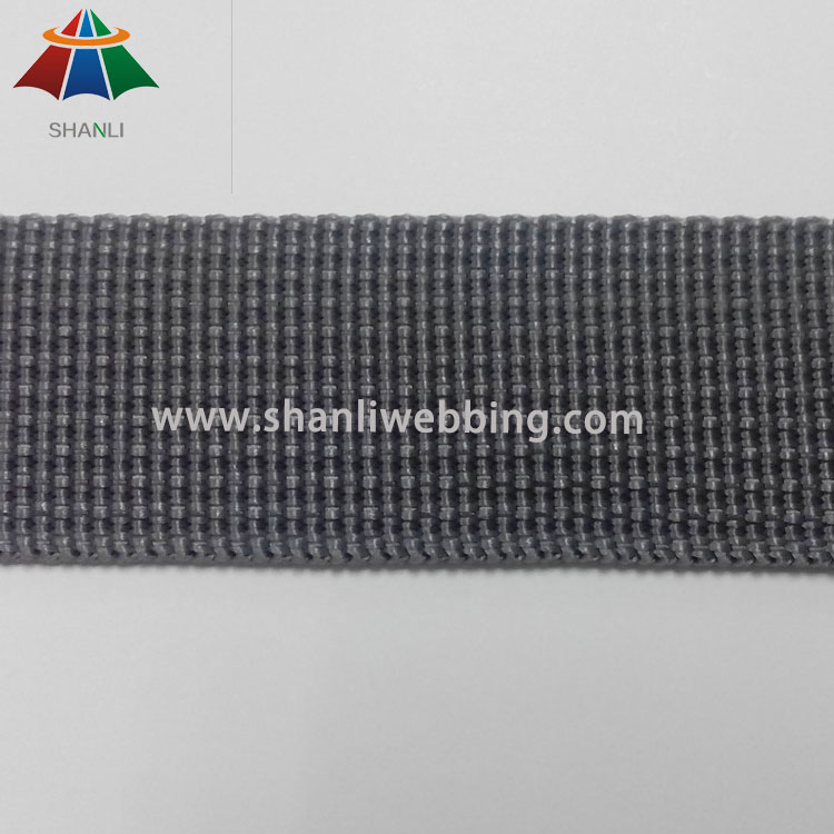 1 Inch Grey Grooved Polypropylene Webbing for Helmet