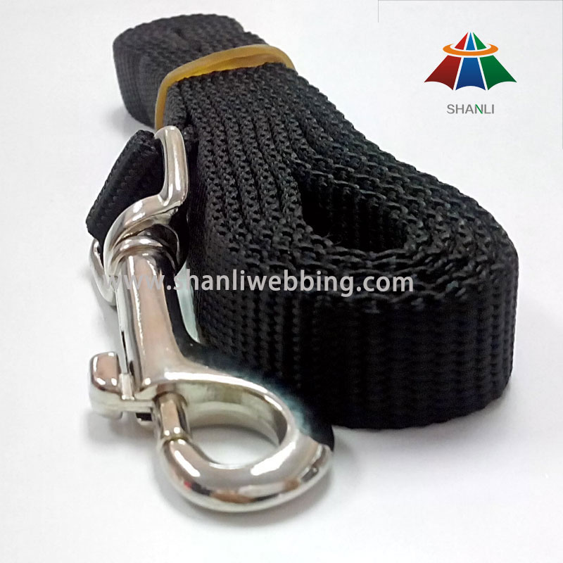 Black Nylon Webbing Pet Leash, Dog Leash