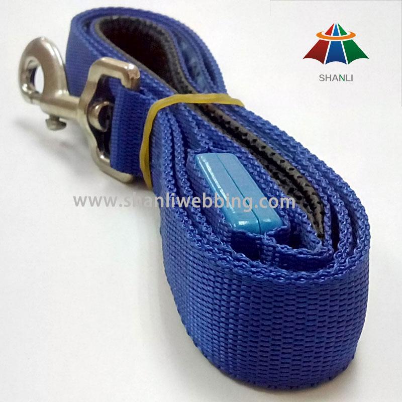 Blue Nylon Webbing Pet Leash, Leash for Dog