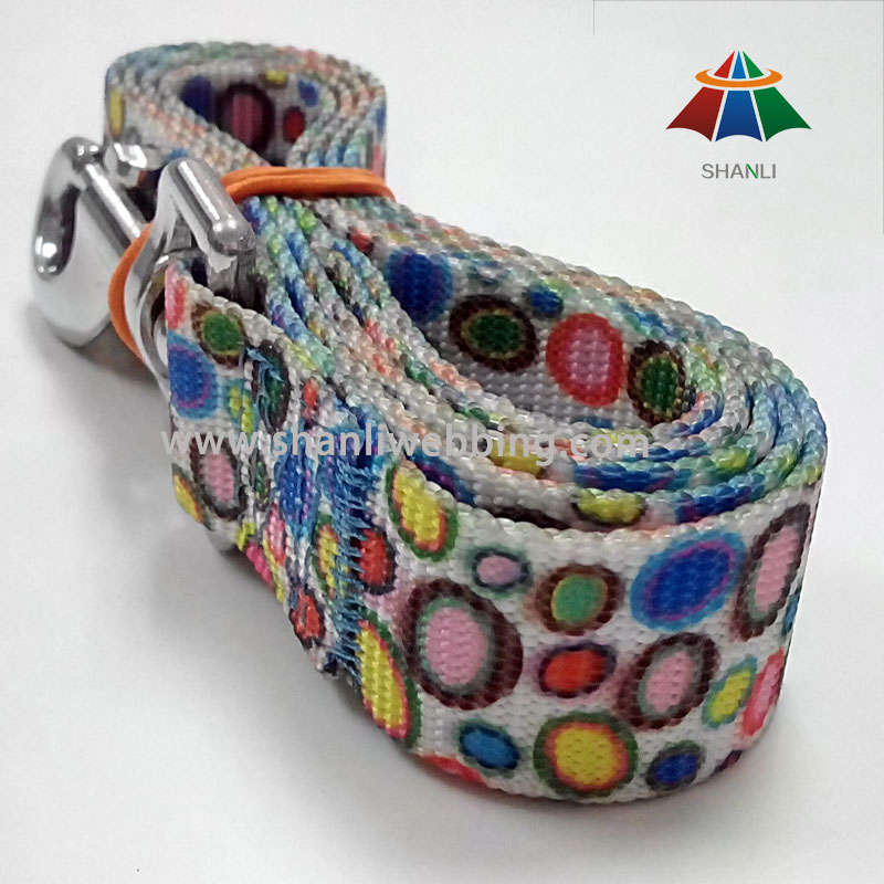 Colorful Pattern Printed Webbing, Pet Leads, Dog Leash