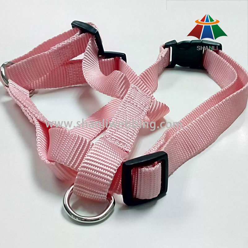 Pink Nylon Dog Harness for Medium-Sized Dogs