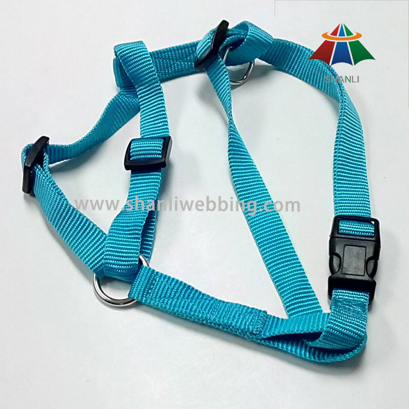 Green Medium-Sized Nylon Dog Harness