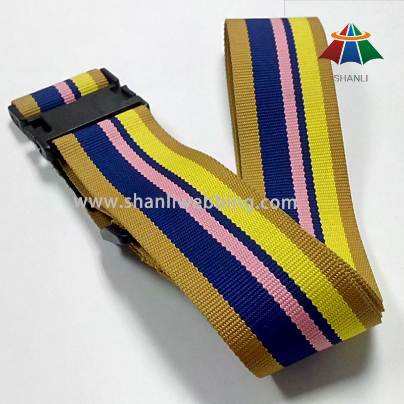 Colorful Striped Luggage Belt, Polyester Luggage Strap