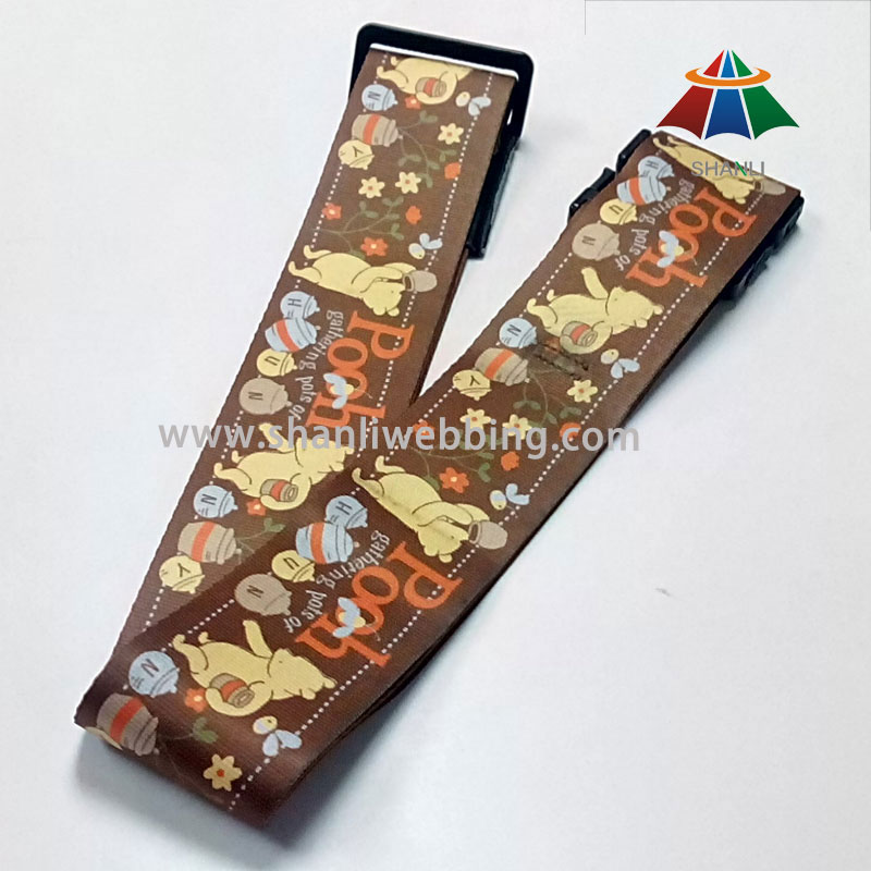 Sublimation Printing Polyester Luggage Belt Strap