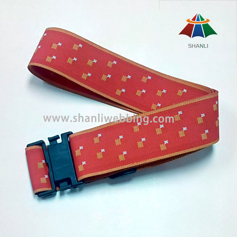 Jacquard Woven Polyester Luggage Belt, Luggage Strap