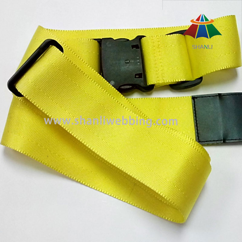 High Strength Polyester Material Luggage Belt, Yellow Luggage Strap