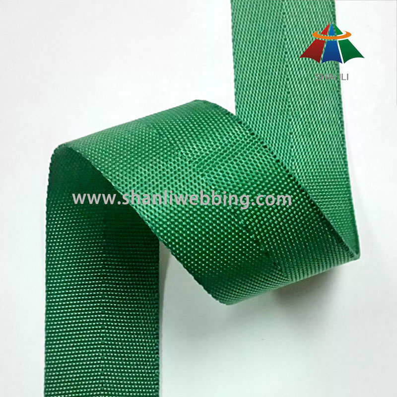 1 Inch Green Hurringbone Webbing, Nylon Webbing Binding Tape