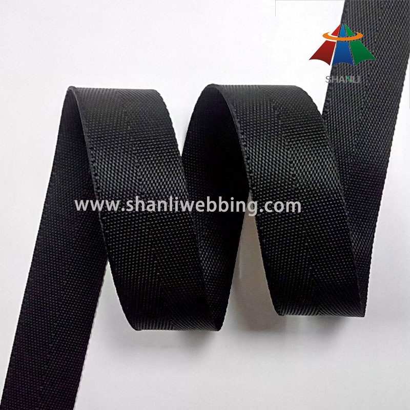 7/8 Inch Black Nylon Binding Tape Webbing for Bags