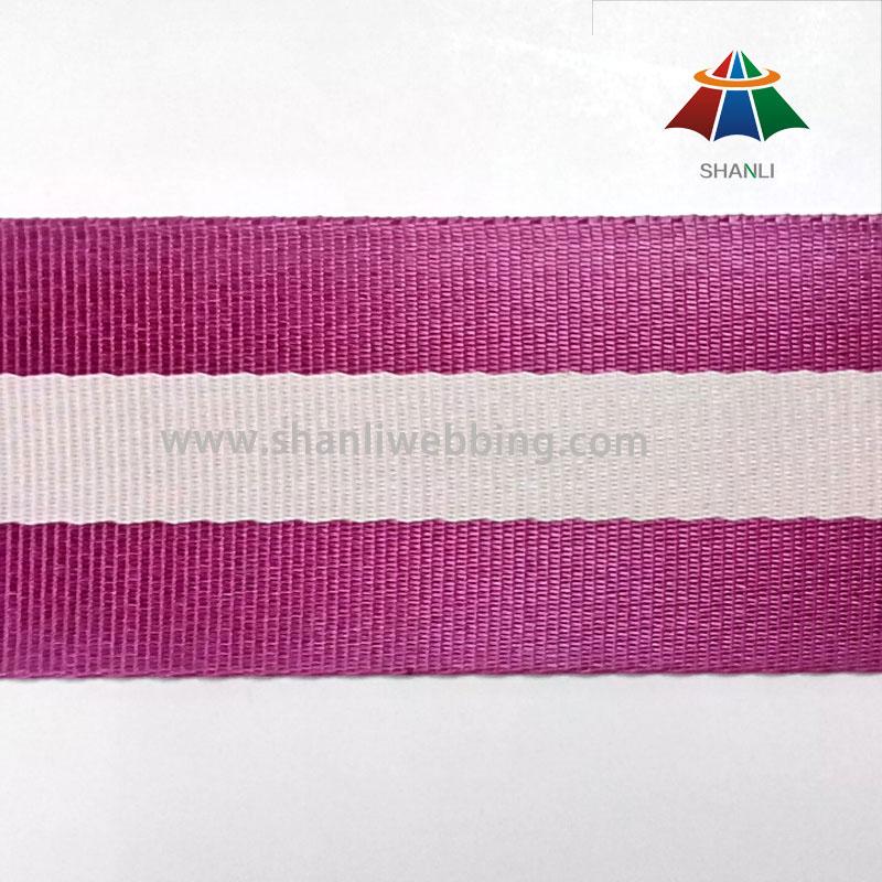 50mm Smooth Striped Nylon Webbing for Bag Shoulder Strap