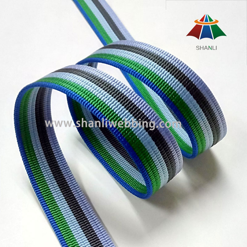 1-3/8 Inch High Tenacity Striped Nylon Webbing