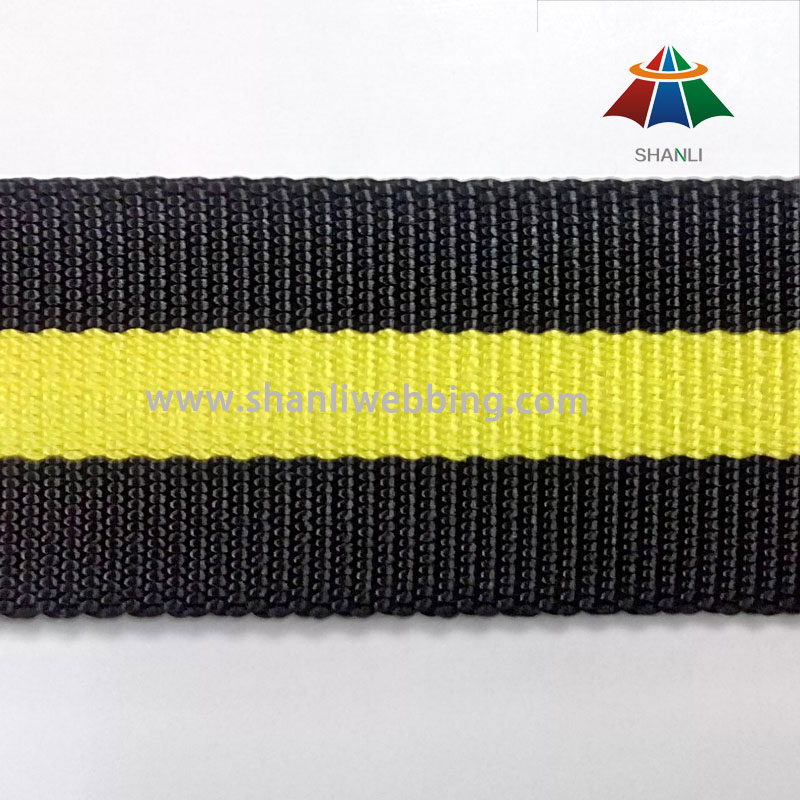 38mm Strong Striped Nylon Webbing for Bags and Belts
