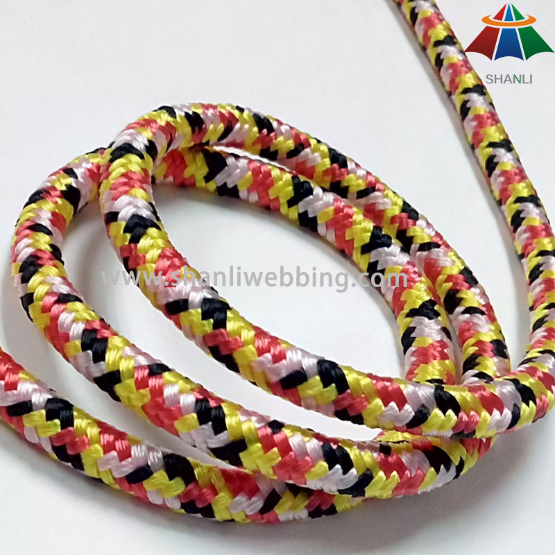 7mm mixta Cable Color de Nylon, 16-Strand trenza de nylon cuerda