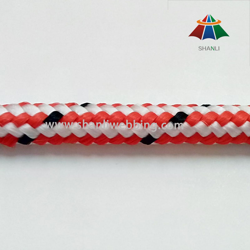 9mm Striped Color Polypropylene Rope