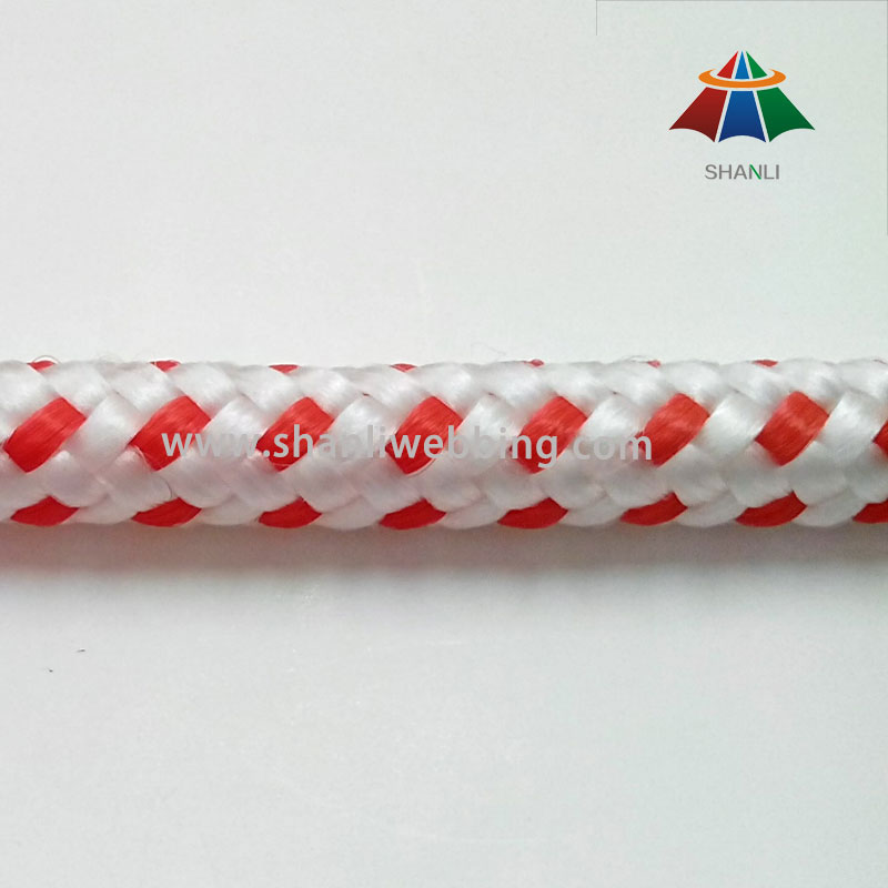 Good Quality 9mm Red and White Braid PP Cord