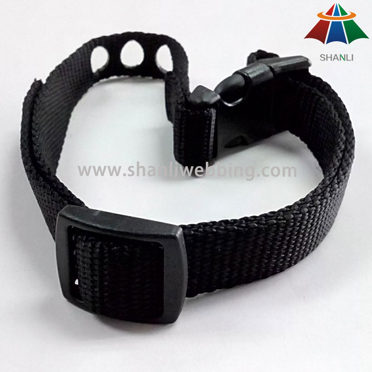 Black Nylon Dog Collar, Dog Training Collar, Customized Dog Collar   Custom Dog Collar