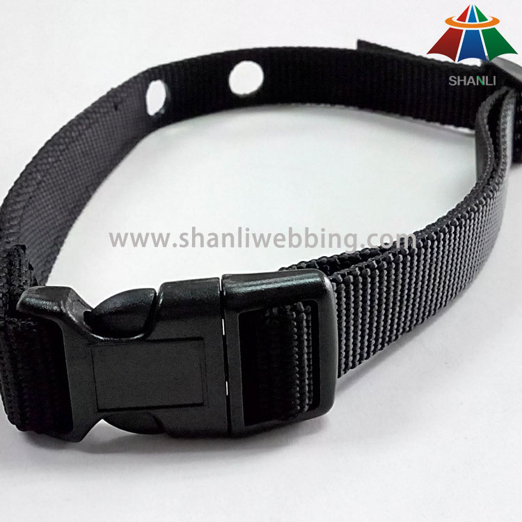 Black Nylon Dog Collar, Dog Training Collar, Customized Dog Collar   Nylon Dog Collar