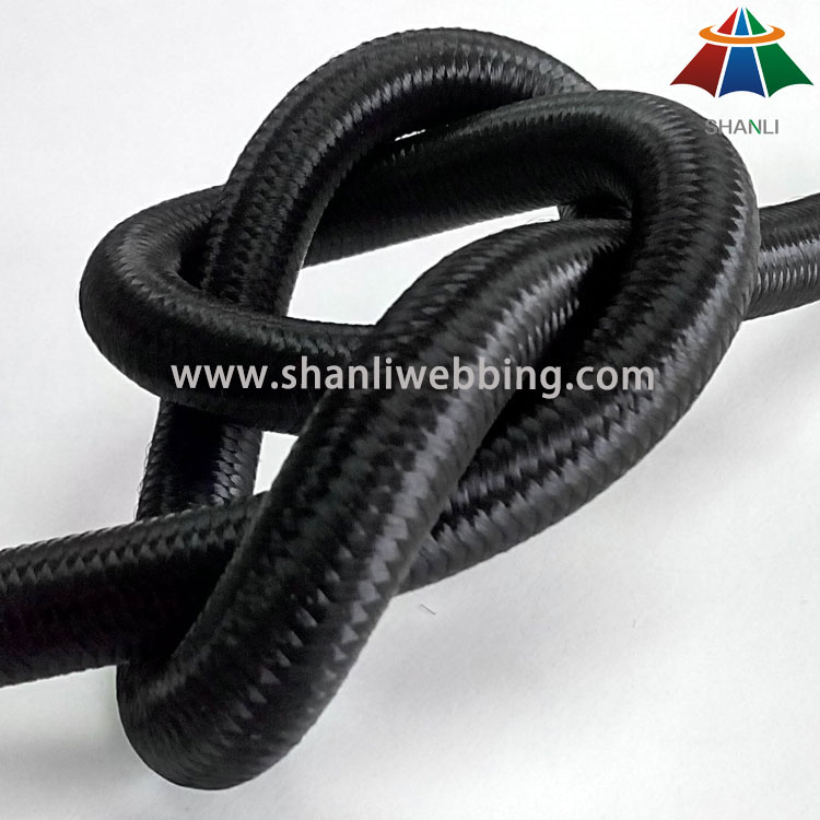 12mm Black Imported Rubber String Elastic Cord for Bungee