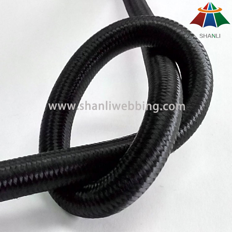 10mm Black Elastic Bungee Rope for Exercise