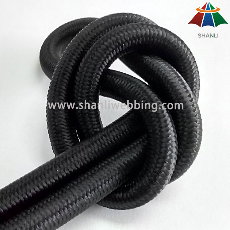 8mm Black Elastic Bungee Shock Cord