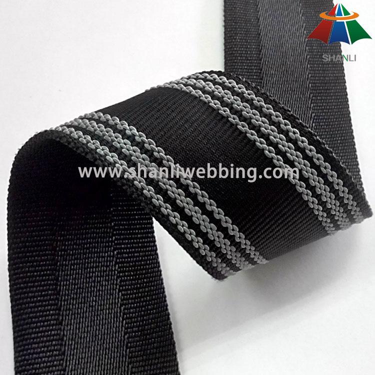 Durable Non-Slip Webbing, Nonslip PP/ Polyester Webbing   Non-Slip PP Webbing