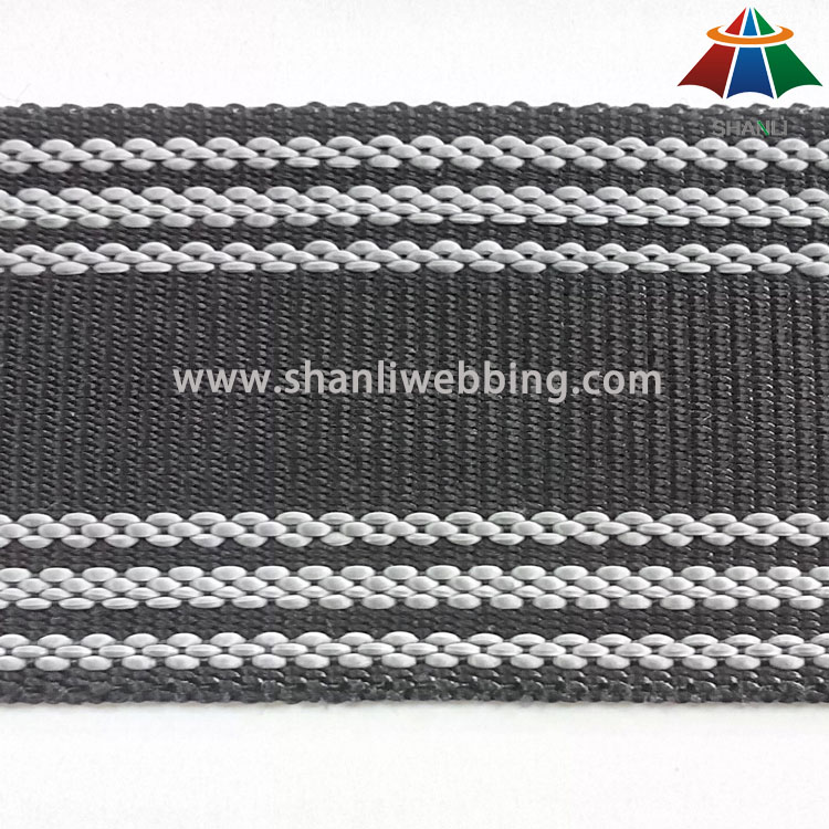Durable Non-Slip Webbing, Nonslip PP/ Polyester Webbing   Skid-Resistant Webbing