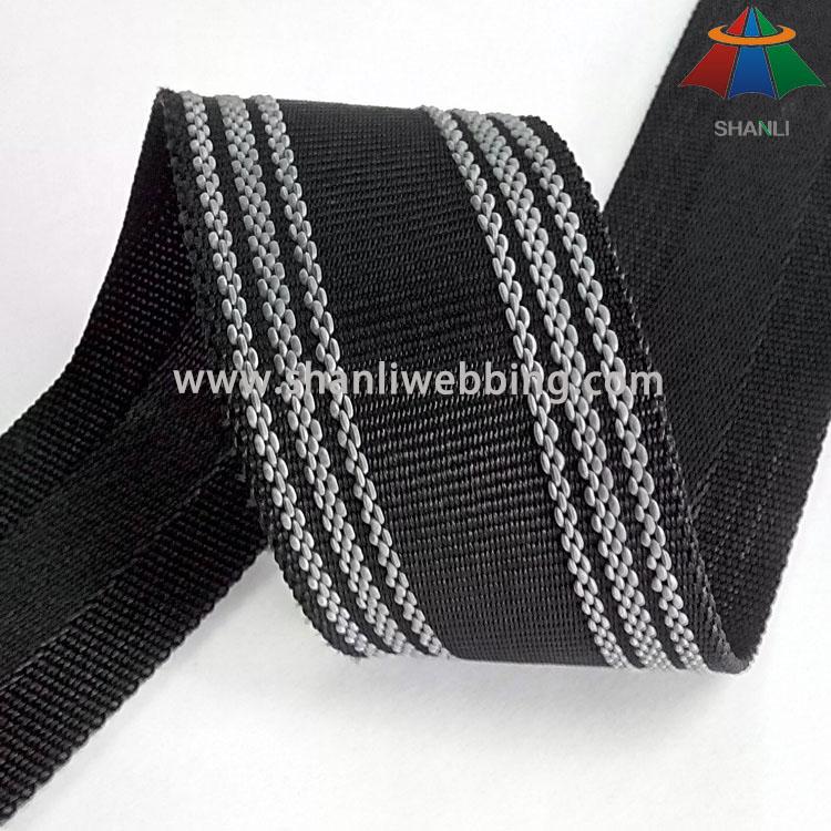 Durable Non-Slip Webbing, Nonslip PP/ Polyester Webbing   Nonslip Webbing