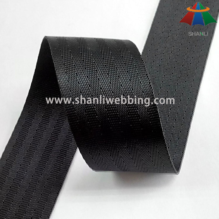 40mm Black High Tenacity Polyester Webbing for Seat Belt