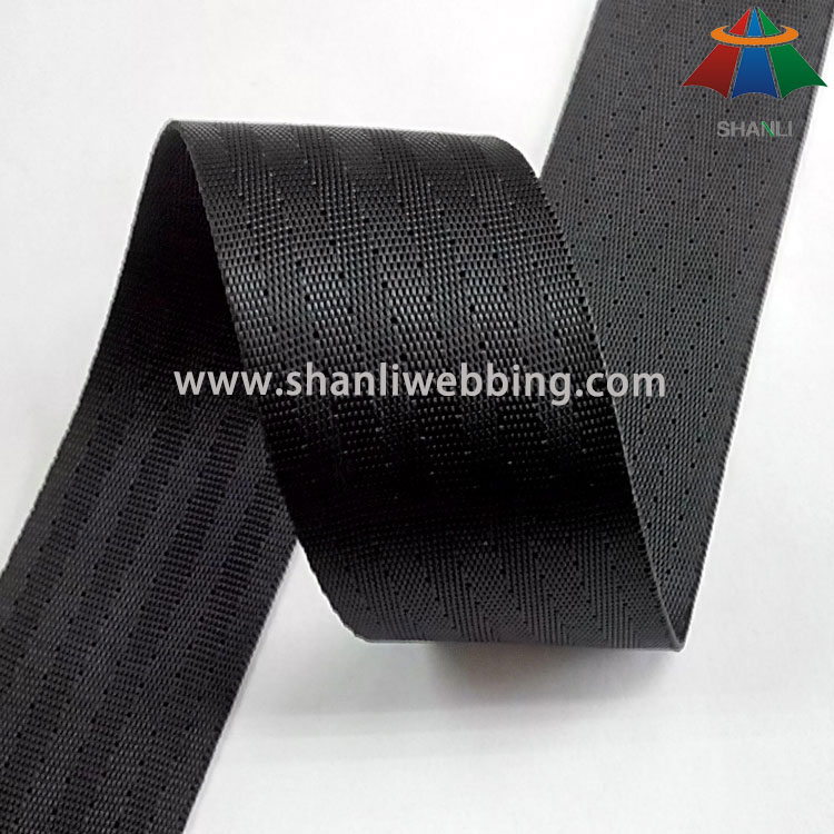 40mm Black High Tenacity Polyester Webbing for Seat Belt   Polyester Seat Belt Webbing