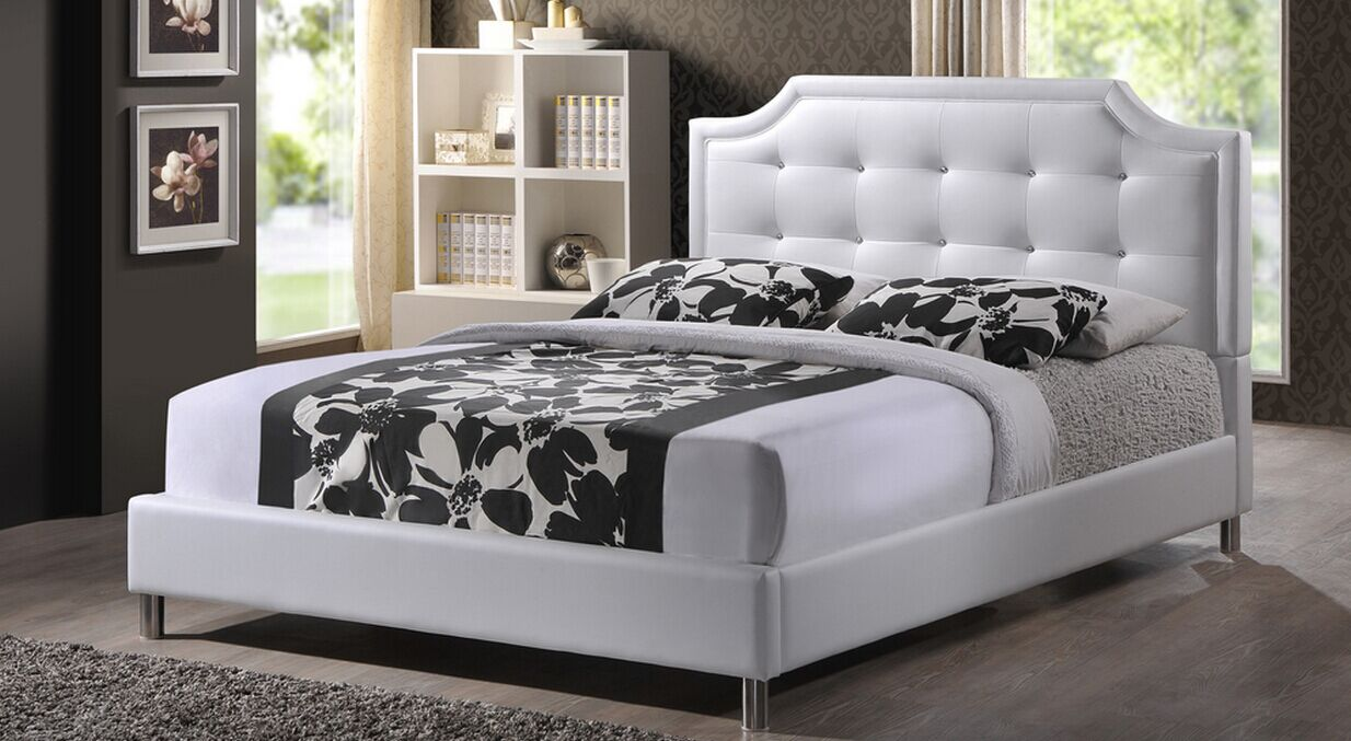 Upholstered Headboard Modern Bed L. Ab06