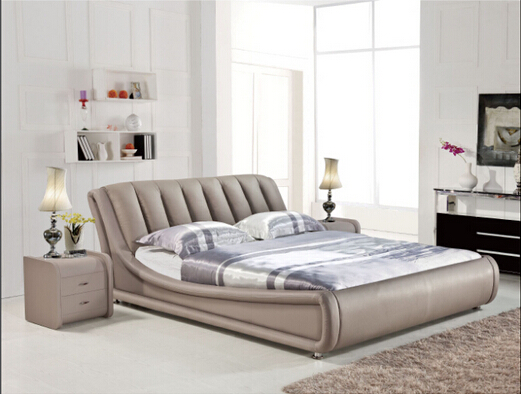 Bedroom Furniture Genuine Leather Bed H832