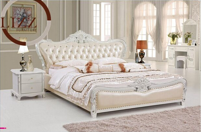 Bedroom American Leather Bed A8123