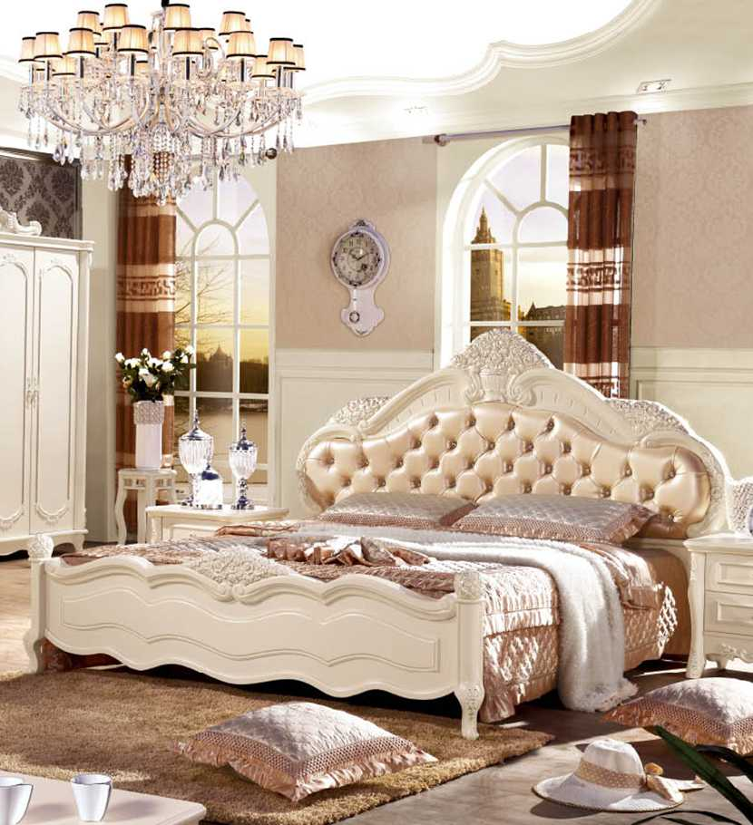 European Style Italy Leather Bed Jh911