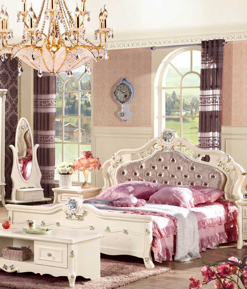 European Style Italy Leather Bed Jh909