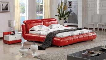 Italian Genuine Leather Bed Frame L. H8069