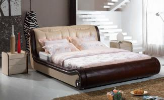 Diamond Real Leather Low Foot End Bed Frame L. H8097