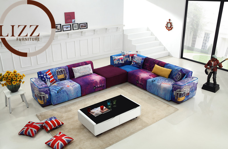 U. K. Modern Sectional Fabric Sofa (Gd-09)