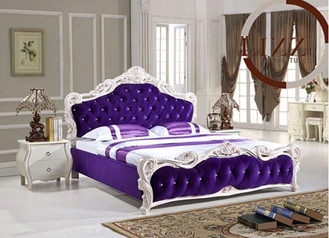 Home Furniture Queen Size Fabric Bed A8122