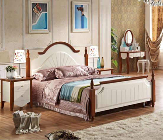 Mediterranean Style Queen Size Bed Ay505-8