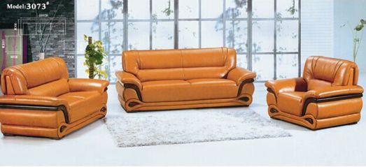 Brazil Office Leather Sectional Sofa Set (L. P. 3073)