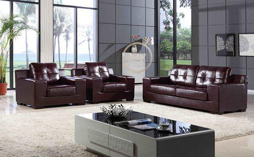 American Office Leather Sofa Set (L. P. 1204)