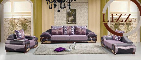 Dubai Living Room Fabric and Leather Sofa (A231)