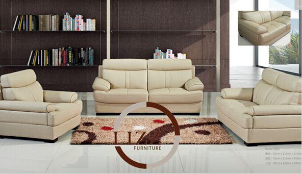 Leather Sofa Office Furniture (L. P. 551)