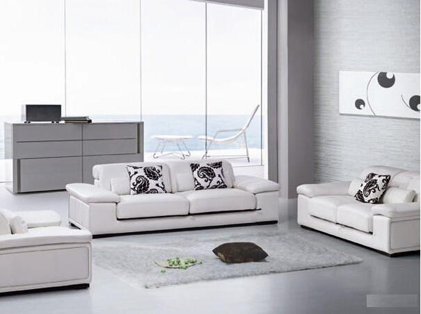 U. K. Office New Product Leather Sofa (A. L. 104)