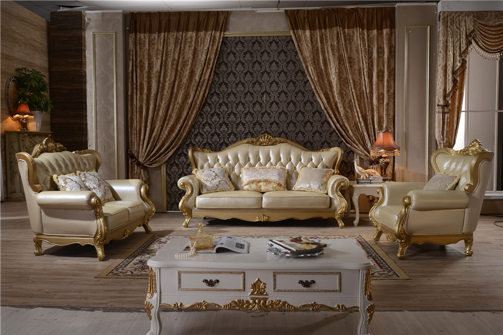 Home Furniture Modern Leather Sofa Couches Y1507