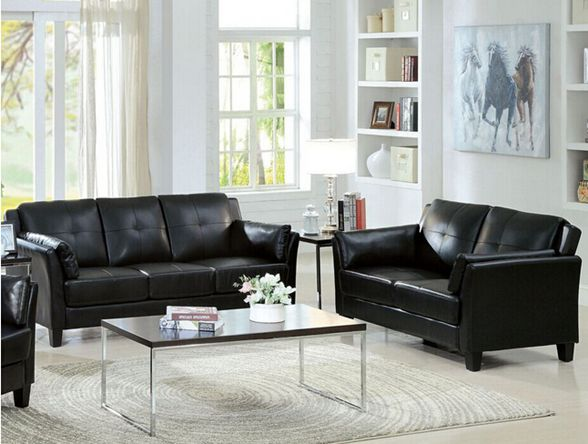 Bonded Leather Sofa Set (L. A22)