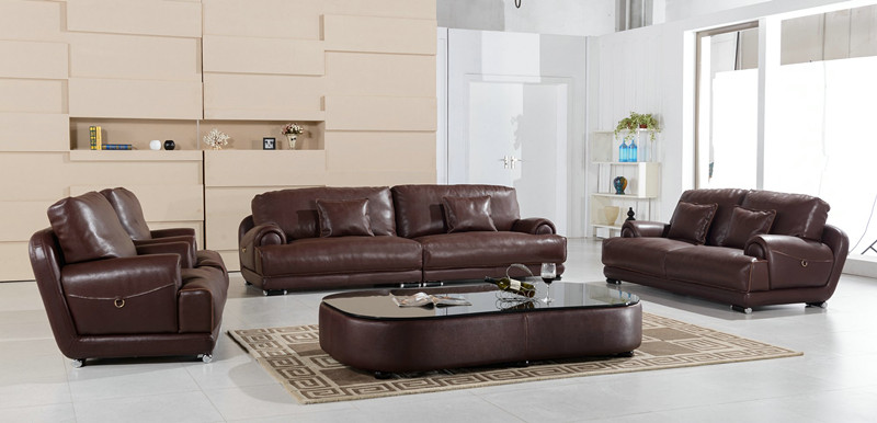 U. K. Modern Living Room Furniture Genuine Leather Sofa